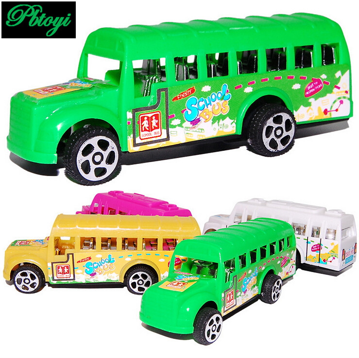 Children's plastic toys wholesale bus back to school bus mixed batch model luxury 25g PI0701(China (Mainland))
