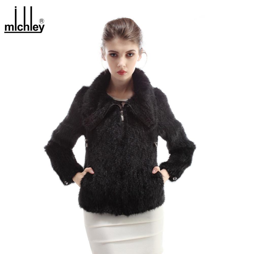 MICHLEY 2015 Knitting Mink Fur Outwear Jakect Plus Size Fashion Casual Women Winter Coat QFCM0022(China (Mainland))