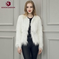 Sinofashion 2016 new autumn and winter Faux fur coat long sleeved floating hair coat hair coat