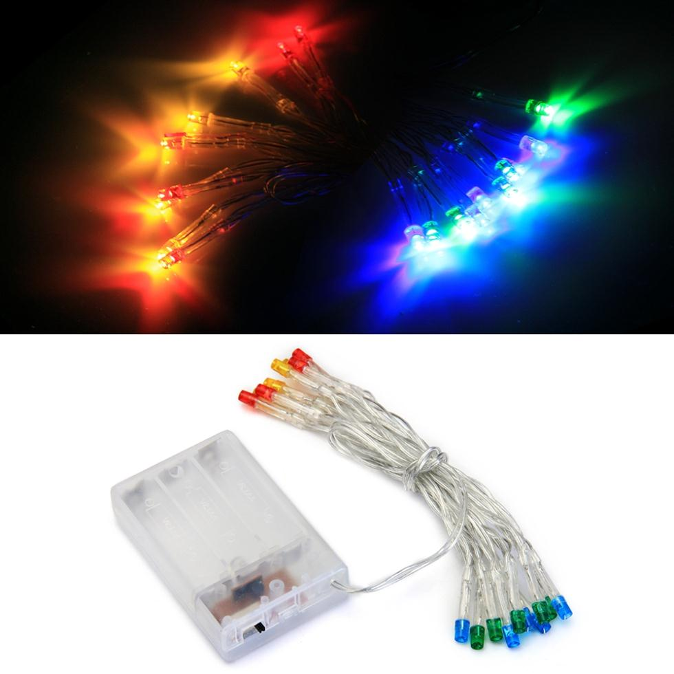 Battery Power Multicolor 20 LED Christmas String Fairy Lights-in LED String from Lights ...