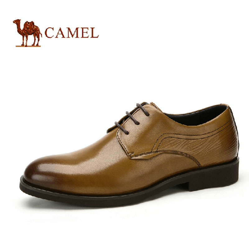 CAMEL 2015 Euro Fashion Men  Dress Shoes Solid Black Brown Cow Leather Shoes Mens Round Toe Lace up Oxfords A532005190<br><br>Aliexpress