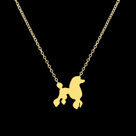 1-2016 Fashion Pet Cute Dog Necklaces & Pendants Stainless Steel Gold Chain Tattoo Choker Necklace - Show Jewelry store