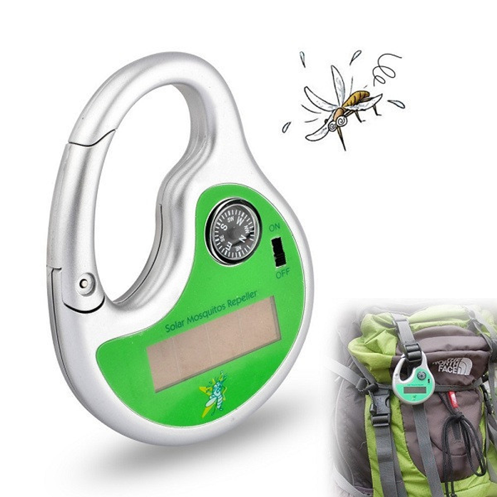 Portable Electronic Mosquito Repeller Hook Type Solar Ultrasonic Mosquito Insect Killer(China (Mainland))