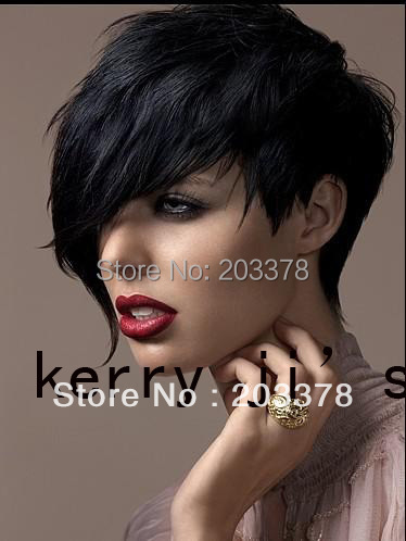 Top Quality Synthetic Short Black Fashion full Wig Free Shipping Wholesale Price