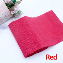 250*10cm Decorative Origami Crinkled Crepe Paper Craft DIY Flower Wrapping Fold Scrapbooking Gifts Party Decoration(China)