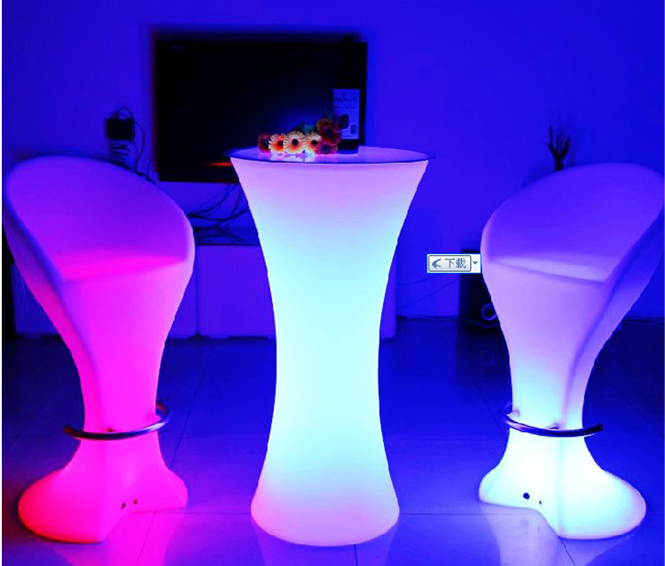 ... LED Restaurant Chair Bar Stool Glowing Furniture Colors Changing By  Remote Control ...