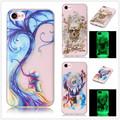 For Coque iPhone 7 Case Silicone Transparent Luminous Phone Case Apple iphone 7 Cover Silicone Cute