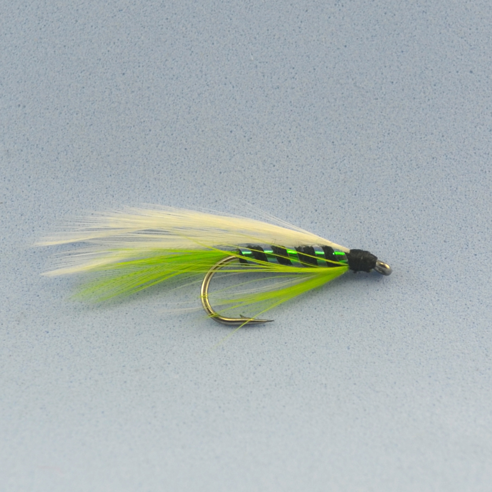 100pcs 7 green salmon fly fishing flies wholesale in