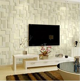 N o tecido papel de parede papel de parede geom trico for Papel mural living comedor
