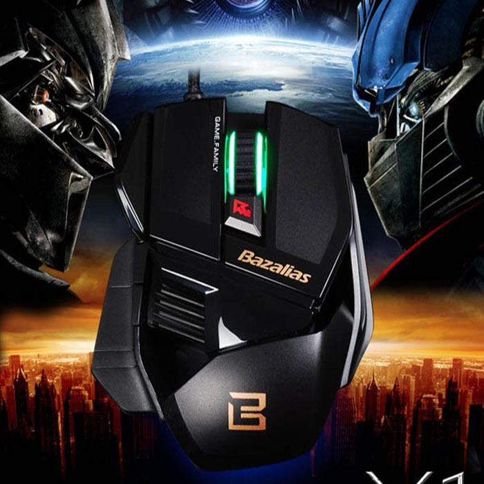 2015 Hot Bazalias 2000DPI 6 Button USB Wired Mouse Optical Game Gaming Mouse Mice Free Shipping Tonsee(China (Mainland))