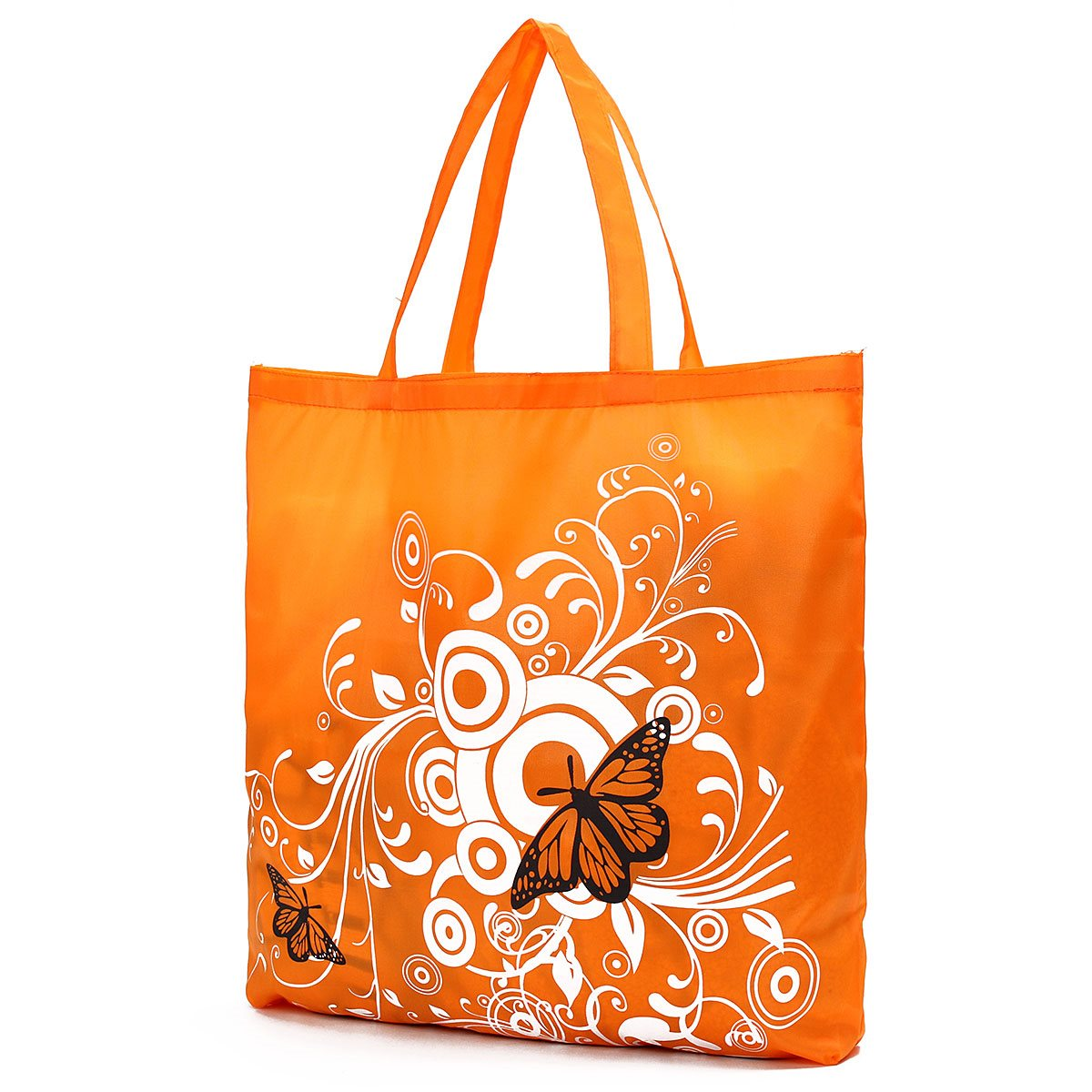 1 PCS Eco Storage Handbags Flower Butterfly Oxford Cloth Foldable Shopping Bags Folding Reusable Organizers Tote Bag 6 Colors(China (Mainland))