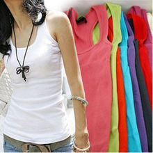 Hot sale Casual Wild Sleeveless Tank Tops Women Cami No Sleeve T-Shirt Vest(China (Mainland))