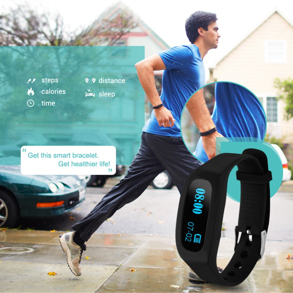 On Discount!New Brand Excelvan OLED Smart Healthy Sport Bracelet Bluetooth V4.0 Wristband Fitness Bracelet Wearable Devices(China (Mainland))