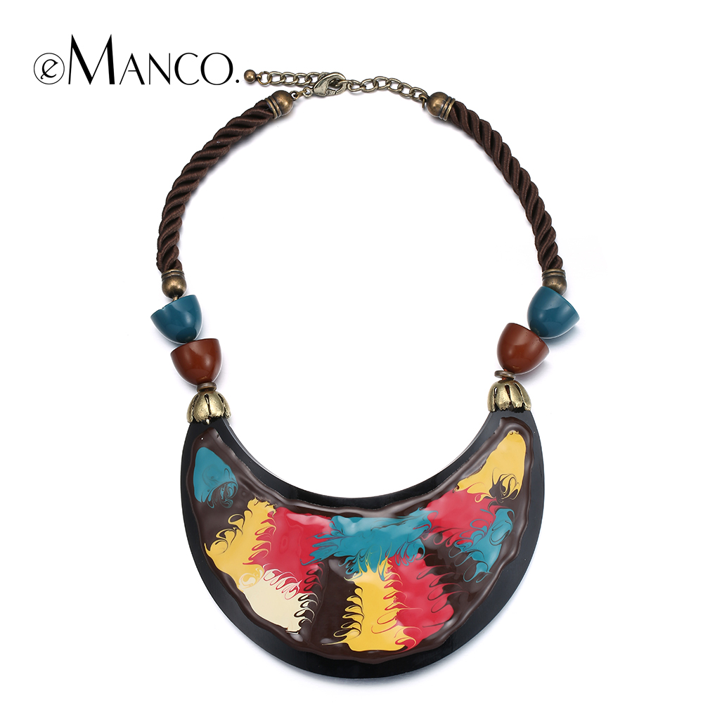 enamel resin necklace rope choker necklaces for 2016