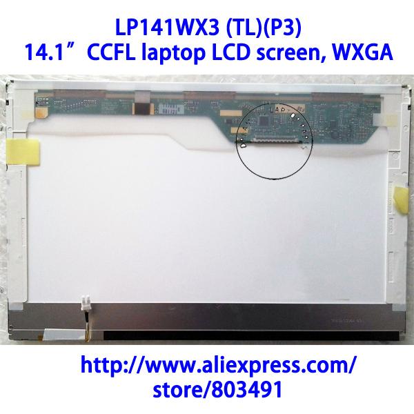 """LP141WX3 (TL)(P3), 14.1"""" laptop LCD screen, WXGA, CCFL backlight, 1280*800 pixels, 30 pins, LP141WX3-TLP3(China (Mainland))"""