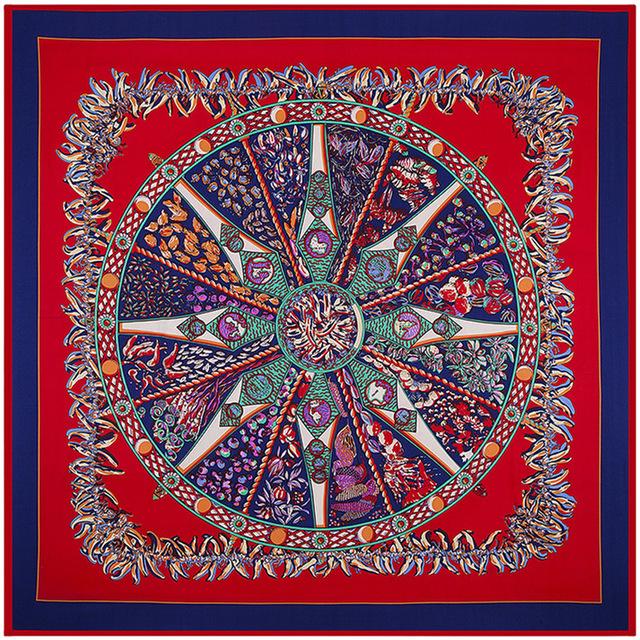 100 см * 100 см новое поступление 100% саржевые шелковый этническая ветер маленькая леди перец тяжелого шелка саржевые шарф большие квадратные шарфы B130