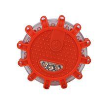 1 шт. 12 светодиодный * светодиодный аварийный фонарь красный Дорожный фонарь магнит мигаПредупреждение ночные огни придорожный диск Маяк дл...(China)