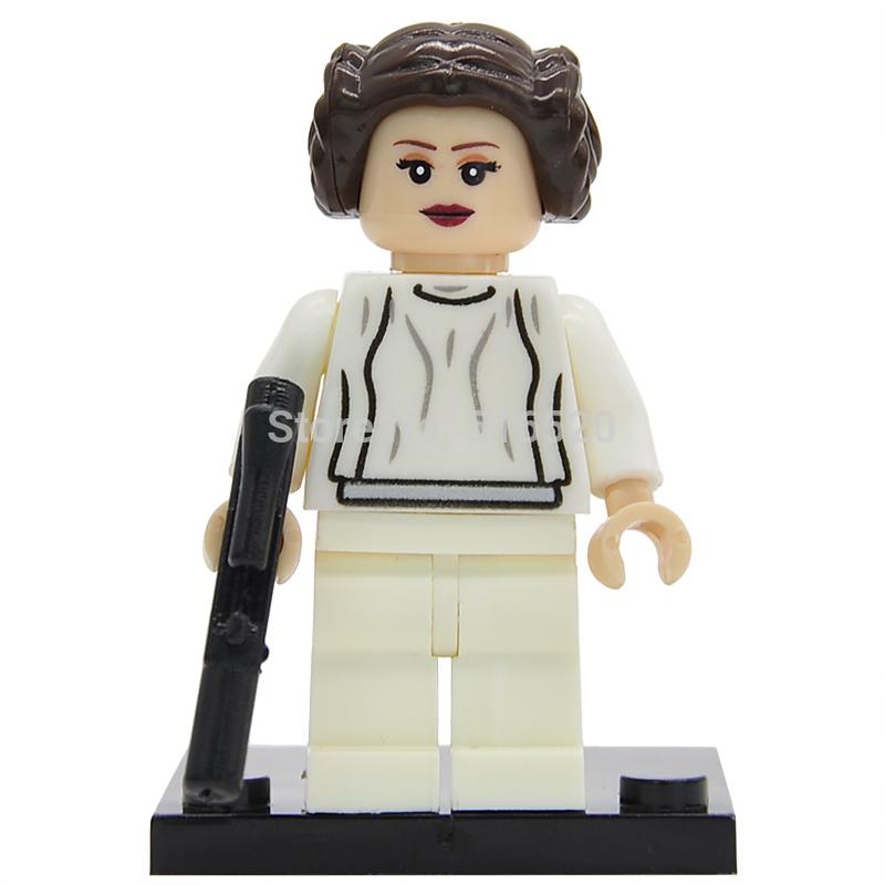 Wholesale Star Wars Princess LEIA Minifigures Building Blocks Single Sale Starwars 50pcs lot Set Model Mini