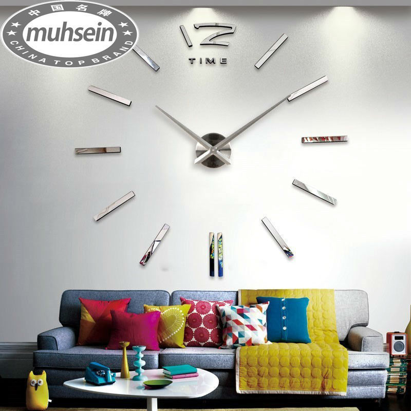 Home decoration wall clock big mirror wall clock Modern design,large size wall clocks.diy wall sticker unique gift(China (Mainland))