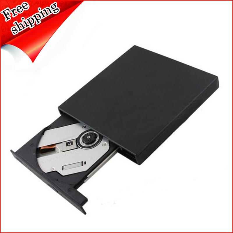 Wholesale Brand New 8X DVD RW RAM DL Burner 24X CD RW Writer Tray-Loading USB 2.0 External Slim Drive Blue(China (Mainland))