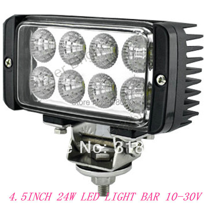 Manufacturer Direct!! 1Piece 4.5INCH 24W Headlight LED Off Road Light 4WD 24W Spot Beam Driving Work Light Bar For Truck USE(China (Mainland))