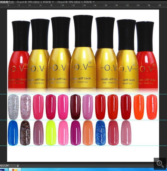 15ml 186 colors,professional one step gel nail polish gelpolish OV Brand lyte beauty coatings vernis UV/LED lacquer varnish(China (Mainland))