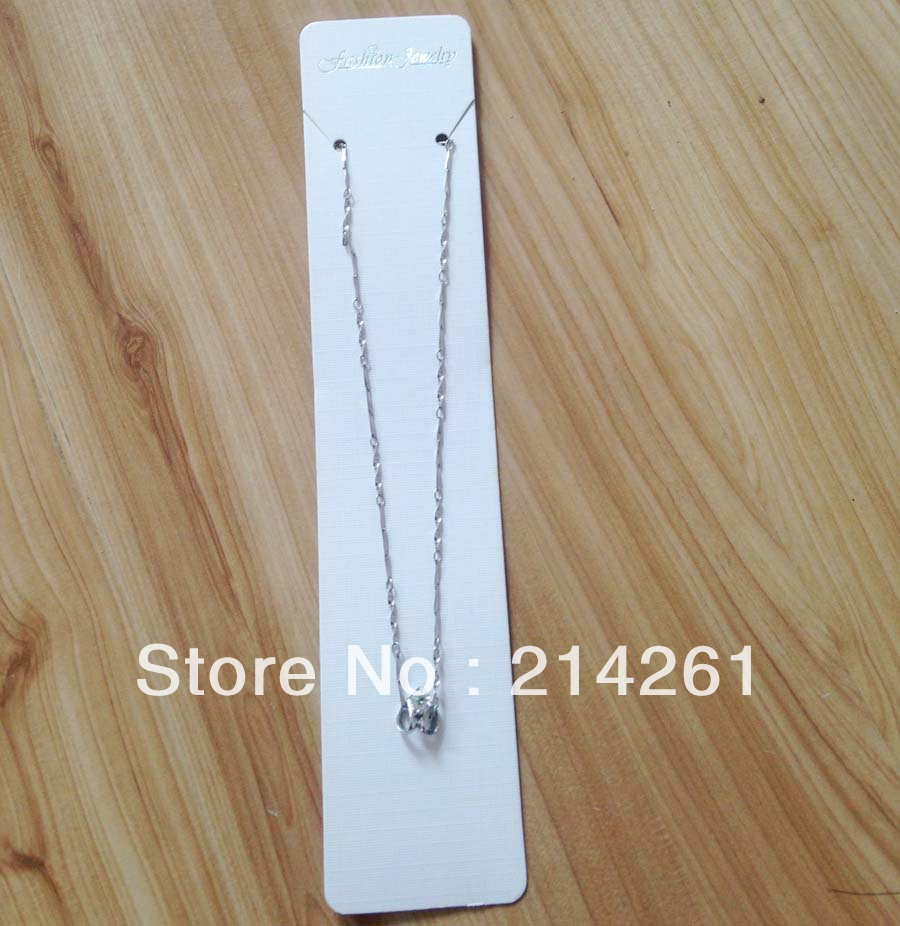wholesale free big necklace card size: 19x3.8cm Customoze Logo moq: 2000 pcs