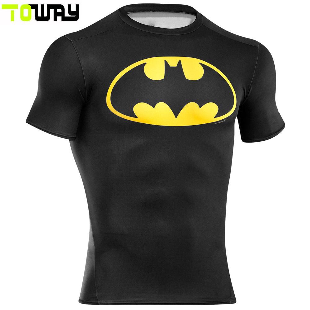 Shirt new design 2015 -  2015 New Design Cheap Custom Super Heros Compression Shirt Superman Batman Gym