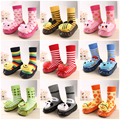 Cute Cotton Kids Socks Fashion Cartoon Non-Slip Baby Socks Letter Socks for Baby Boy Girls 2016