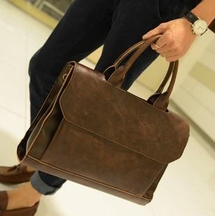 2016 Мужчин горизонтальная сумка моды сумка коммерческим компьютерным старинные портфель ...