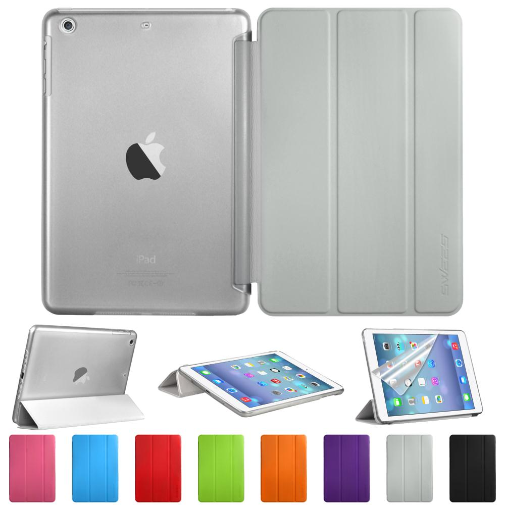 Tri-fold PU Leather Smart Cover Case Magnetic Tablet PC Back case For Apple iPad Mini 1/2/3 with Retina Display(China (Mainland))