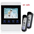 YSECU Brand New Wired 4 TFT Video Door Phone Intercom Entry System 1 Screen 2 Camera