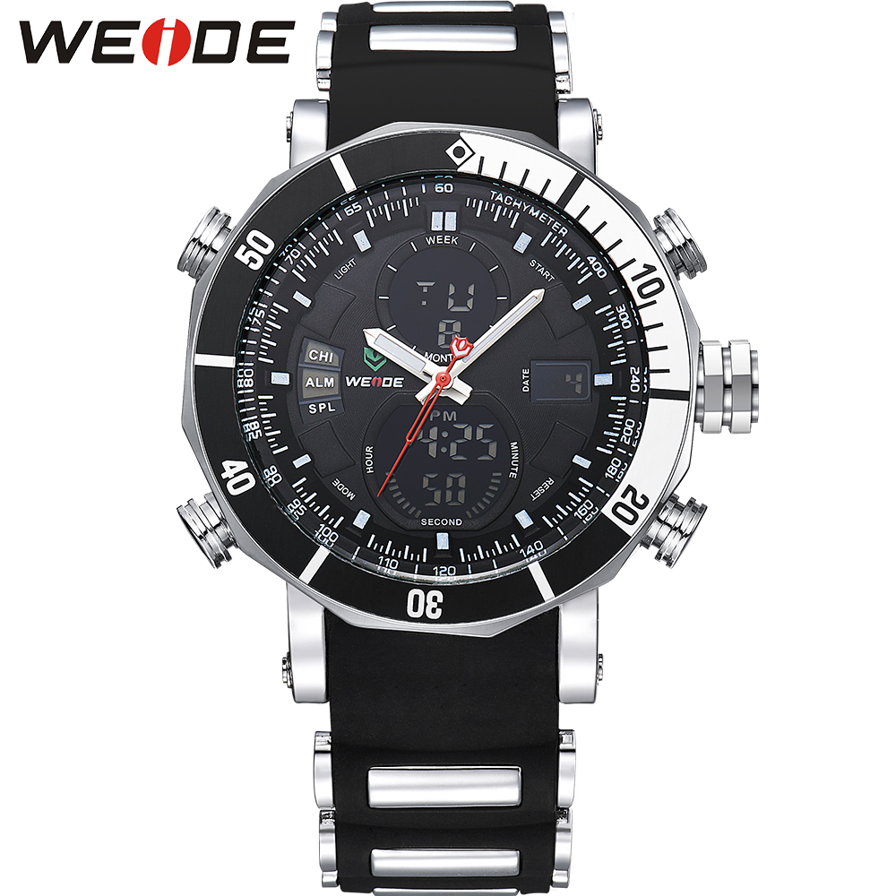 WEIDE Men Watch Silicone Band Black 3ATM Water Resistant Round Dial Sports Casual Wrist Watch relogios masculinos 2016 / WH5203<br><br>Aliexpress