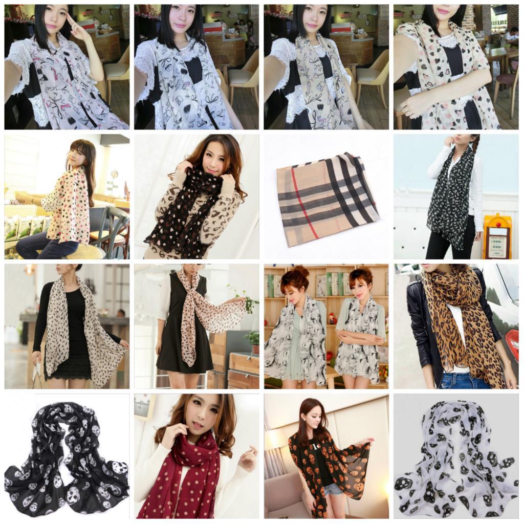 2015 Stylish Women Lady Fashion Long Stole Soft all-match Chiffon Summer Scarf Shawl Wraps&Scarves Hot