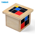 Montessori Educational Wooden Toy Trinomial Cube Math for Early Childhood Preschool Training Learning Toys Great Gift