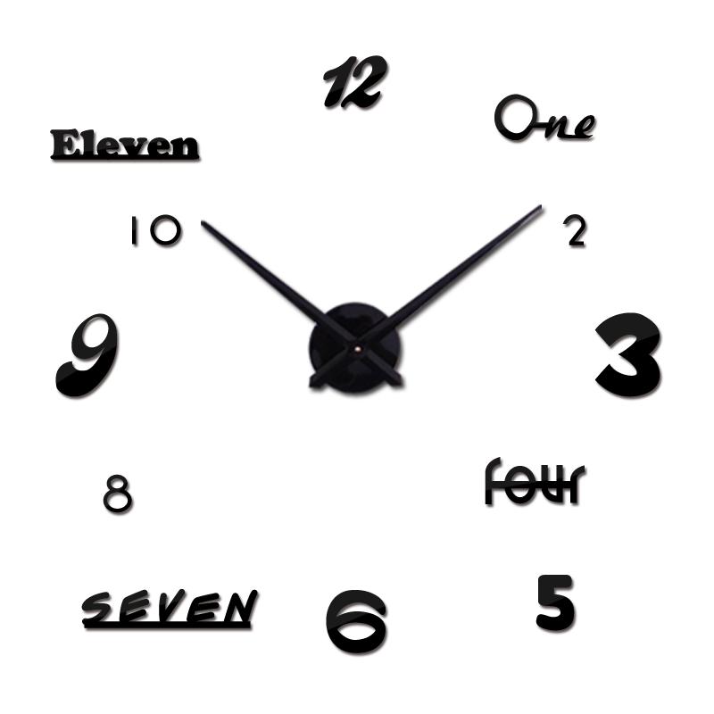2016 Hot Sale Wall Clock Diy Reloj De Pared Modern Design Horloge Murale Large Decorative Clocks