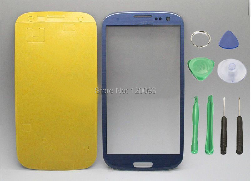 Replacement Blue skinfor samsung galaxy s3 Siii glass lcd touch screen digitizer front lens i9300 free tools +sticker - Cool Show LLC store
