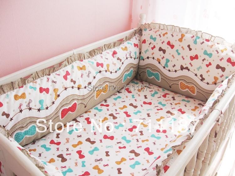 Cute Baby Crib Set 100 Cotton 5 Pcs Baby Bedding Set Soft