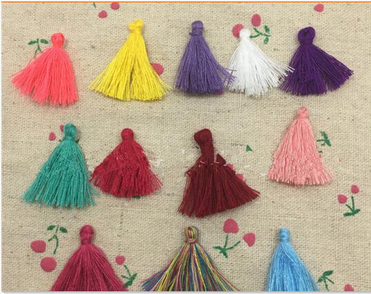50pcs 30mm Mixed color silk velvet tassel retro mini-fringed cashmere DIY jewelry materials accessories AE03354(China (Mainland))