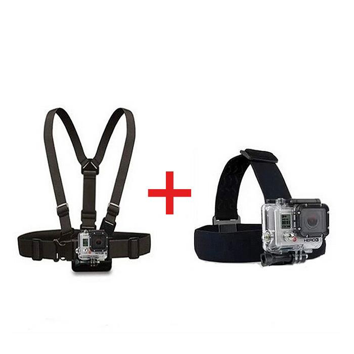 Plastic Buckle Gopro Hero 4 3 2 Black Edition Chest Belt+Head Strap SJ4000 Accessories - China Super Market store