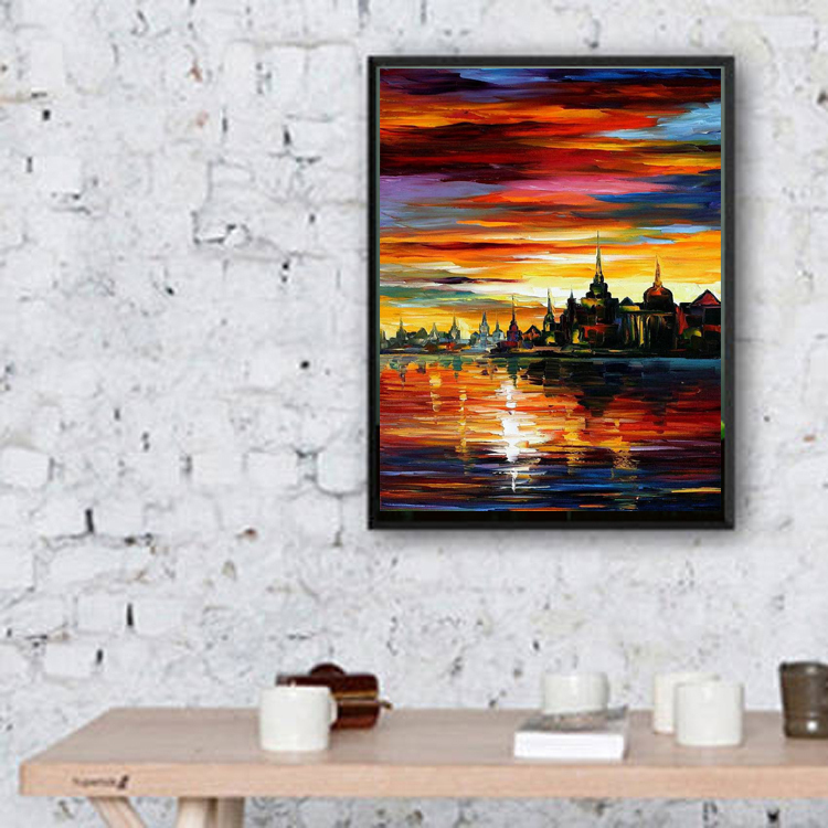 Buy Hand-painted Beautiful Abstract Landscape Oil Painting Canvas Colors - OSM ...