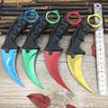 CS GO karambit Real knife Counter Strike collectible Karambit camping hunting Fixed knife tactical survival knife