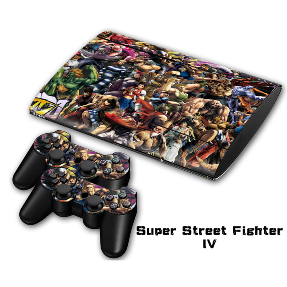 Hot !! Vinyl Decal Skin Sticker For SONY Playstation 3 Console For PS3 Skin Stickers & 2 Controller Protective Cover Skins(China (Mainland))