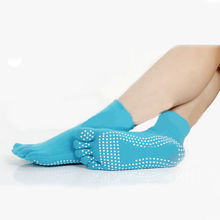 WOMEN S TOE SOCKS TRACTION PILATES ANTI SLIP GYM COLORS EXERCISE
