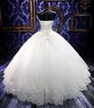 Royal White Bandage Sequins Rhinestone Crystal Actual Ball Gown Wedding Guest Dresses Organza vestido de noiva