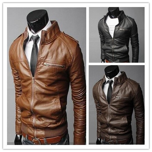 Mens Italian Leather Jacket - Jacket