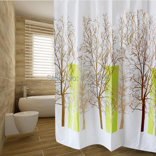 Cortinas De Baño Impermeables:Tree Shower Curtain