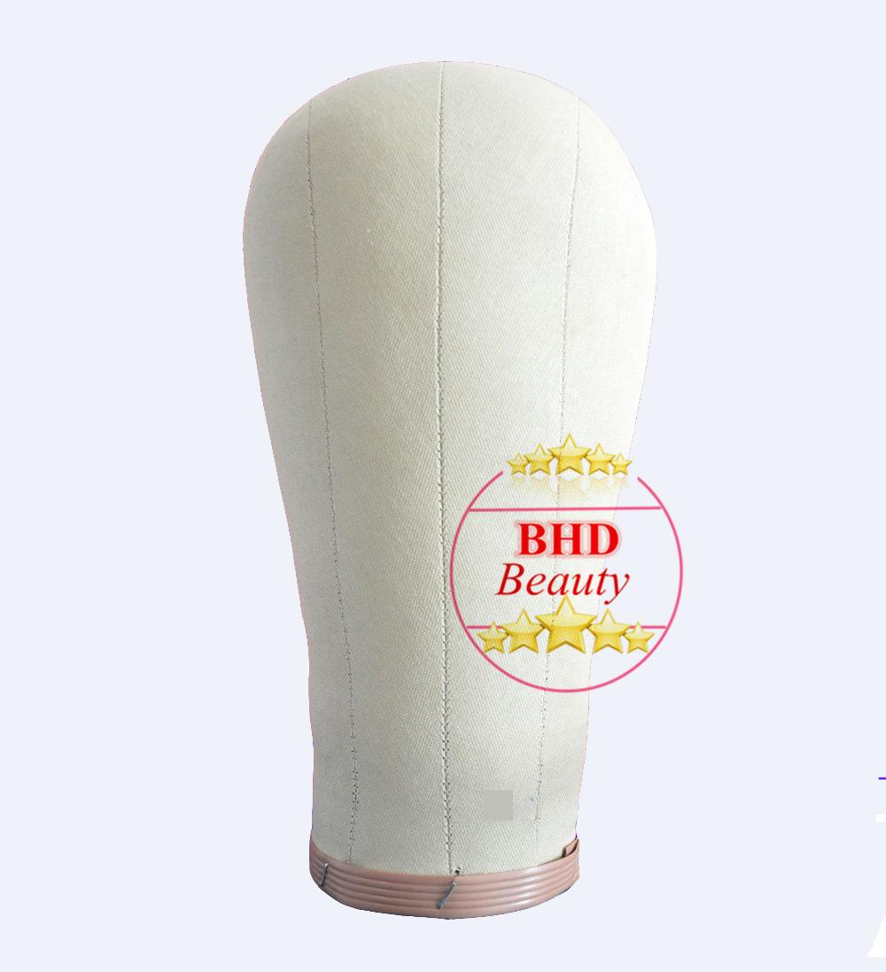 "21""-24"" Head Canvas block head hair extension/weft/wig display style styling mannequin manikin head cork inside dryer(China (Mainland))"