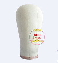 21 24 Head Canvas block head hair extension weft wig display style styling mannequin manikin head