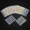 24 Pieces One Sheet Moon Butterfly Animal Design Beauty Polishing 3D Nail Art Stickers For Nails